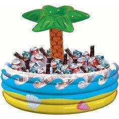Luau Party Cooler Hawaiian Inflatable Cooler Tropical Theme Outdoor Decor