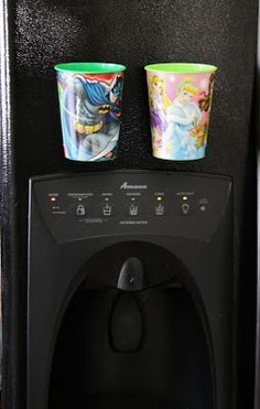 Magnet Cups for the Fridge: Perfect for your children not using every cup in your cabinet.