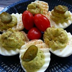 "Avocado Deviled Eggs | ""Very very good! Also added a couple tablespoonfuls of chopped cilantro"""