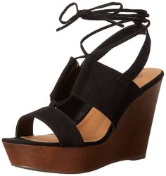Qupid Women's Gimmick-31AX Wedge Sandal * You can get more details here : Lace up sandals