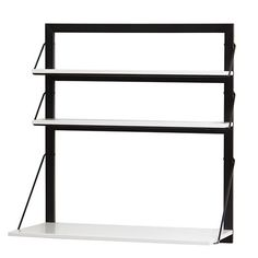 Three Tiers Wall Desk (White/Black)   The Land of Nod