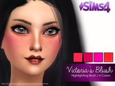 The Sims Resource: Victoria's Blush by SenpaiSimmer • Sims 4 Downloads