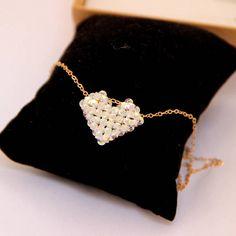 Heart Swarovski Crystal Necklace / Swarovski Heart Necklace /