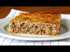 ¡Frío o caliente! Tu decides como comer este jugoso y fácil de hacer pastel de carne - YouTube Food Dishes, Side Dishes, Comida Keto, Empanadas, Meatloaf, Lasagna, Risotto, Casserole, Paleo