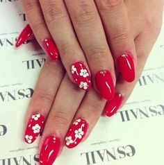 Simple Red Nail Designs for Summer 2018
