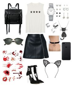 """Untitled #400"" by shoialshammeri ❤ liked on Polyvore featuring Guild Prime, Puma, McQ by Alexander McQueen, Longines, Amanda Rose Collection, Fleur du Mal and Ray-Ban"