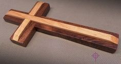 Wood Cross Black Walnut & Maple 7 x 3.5 B by Fortresswandworks, $13.50