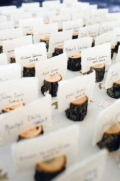 Country Wedding How to Create those Stunning Handmade Wedding Table Decorations - Be at one with. Wedding Invitation Cards, Wedding Cards, Diy Wedding Name Place Cards, Rustic Place Cards, Place Card Table, Wedding Escort Card Ideas, Card Holder Wedding, Rustic Place Card Holders, Table Name Holders