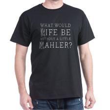 Mahler Music Quote Dark T-Shirt for