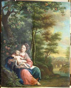 Maria met kind - tijdens vernisafname - RestauratieatelierHaarlem.nl