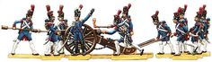 Berliner Zinnfiguren | French foot artillery of the guard with 12 pounder gun. 1804-15 | purchase online