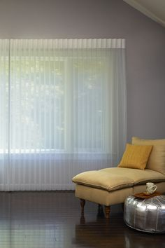 Add privacy with elegant window sheers in custom sizes for your windows. Window Sheers, Drapes And Blinds, Blinds For Windows, Sheer Curtains, Drapery, Grey Paint Colors, Gray Paint, Bedroom Inspo, Bedroom Ideas