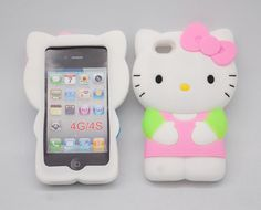 New 3 D Cute Pink Soft Silicone Hello Kitty Case Cover Skin for iPhone4 4 G 4 S. http://www.ebay.com