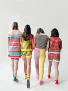 Annie Larson's colourful, graphic knitwear