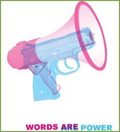 Words are Power - Poster Design Graphic Design Posters, Graphic Design Typography, Graphic Design Inspiration, Graphic Designers, Crea Design, Silkscreen, Visual Metaphor, Plakat Design, Communication Design
