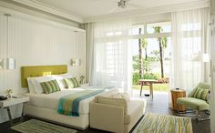 Light bright airy guest rooms