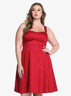 Anchor Polka Dot Swing Dress