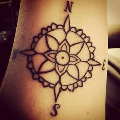 What does compass tattoo mean? We have compass tattoo ideas, designs, symbolism and we explain the meaning behind the tattoo. Feminine Compass Tattoo, Simple Compass Tattoo, Compass Tattoo Meaning, Tattoos With Meaning, Tattoo Simple, Mandala Compass Tattoo, Simple Mandala Tattoo, Trendy Tattoos, Love Tattoos