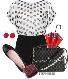 """Spots"" by stephiebees on Polyvore"