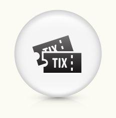 Tickets icon on white round vector button vector art illustration