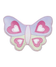 Pink & Purple Lorelai Girl Butterfly Throw Pillow #zulily #zulilyfinds