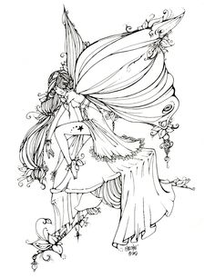 Fairy Adult Coloring Page Fresh Fairies Coloring Pages 10 Handpicked Ideas to Discover Fairy Coloring Pages, Christmas Coloring Pages, Free Coloring Pages, Printable Coloring Pages, Coloring Books, Coloring Sheets, Fairy Mermaid, Amy Brown Fairies, Line Art