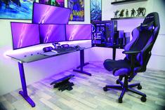 I updated my Battlestation- I updated my Battlestation Quad Monitor Pic - Custom Computer Desk, Gaming Computer Desk, Gaming Pcs, Gaming Pc Under 500, Quad, Minecraft, Best Gaming Setup, Gamer Room, Pc Setup