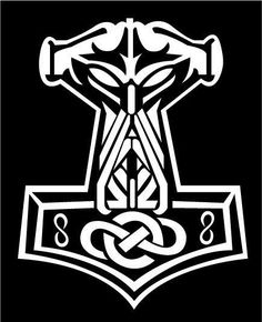 Thor Hammer Tattoo Designs | Thor's Hammer illustration in Ads, Logos, Album art, Tattoo designs by ...