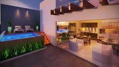 Resultado de imagem para jardim em terraço apartamento com palmeiras e grama