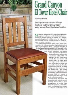 Dining Room Chair Plans - Furniture Plans and Projects - Woodwork, Woodworking, Woodworking Tips, Woodworking Techniques Pallet Furniture Plans, My Furniture, Furniture Design, Modern Furniture, Wooden Dining Room Chairs, Table And Chairs, Side Chairs, Planer, Project Ideas