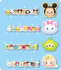 Tsum Tsum Glitter Masking Tape from Disney Diy, Disney Crafts, Disney Fan Art, Tsum Tsum Party, Disney Tsum Tsum, Chibi Kawaii, Tsumtsum, Alice, Disney Addict