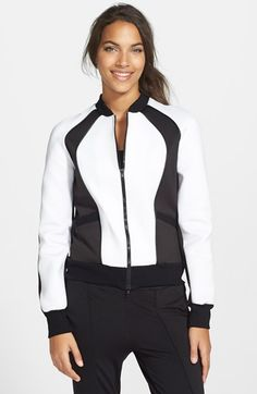 X BY GOTTEX Scuba Bomber Jacket available at #Nordstrom