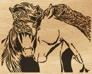 Vector Of Horse Black White Running Horse Side View