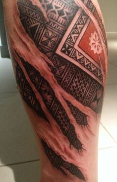 Beauty!..Fiji Tattoo with skin peeling off_nice work @sonysofes..