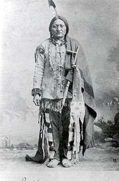 Sitting Bull (Tatanka-Iyotanka), Lakota (Sioux) Chief 1831-1890 - On July 19, 1881, after four years of self-exile in Canada, Sitting Bull and his followers surrendered to U.S. officials at Fort Buford in what is now North Dakota and were placed on the nearby Standing Rock Indian reservation. Nine years later, during the Ghost Dance Movement, Indian police were sent to arrest Sitting Bull, who was accused of encouraging Indian rebellion. He was killed by a man called Red Tomahawk.