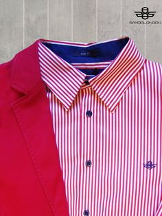 #saxoolondon #menswear #red #and #white #shirt #suit