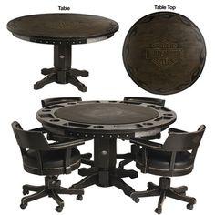 Harley Davidson®bar Shield Flames Poker Table Chair SET | eBay