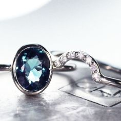 Another look at our 1.6 carat tourmaline ring set in white gold. We see you smiling. chincharmaloney.com