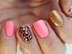 Paulina's Passions: Party Nails - Pink Leopard Print Nail Art