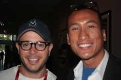 With DAMON LINDELOF , the co-creator of my favorite series, LOST, the co-screenwriter of COWBOYS & ALIENS, PROMETHEUS, and STAR TREK 2. At Comic-Con 2011. Check out my movie blog: Rama's SCREEN at www.ramascreen.com and LIKE my Facebook page at facebook.com/ramascreen and follow me on twitter at @RamasScreen #Lost #Promtheus