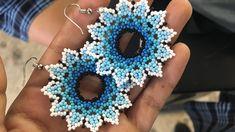 Seed Bead Earrings, Beaded Earrings, Crochet Earrings, Seed Bead Flowers, Beaded Flowers, Beaded Jewelry Patterns, Beading Patterns, Earring Tutorial, Handmade Jewelry