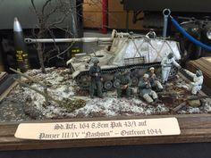 Dort war ich » Modellbauaustellung in Munster |  Pz.Jäg. III/IV (Sd.Kfz. 164) Nashorn, 8,8 cm PaK 43/1 | Diorama, Militär, Kettenfahrzeug