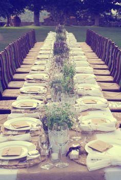 "Italian Wedding Inspiration: long ""feasting"" table"