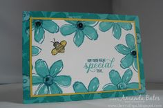 The Craft Spa - Stampin' Up! UK independent demonstrator : Garden in Bloom - the Bright Blue & Bee one...