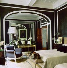 Image result for white walls black trim