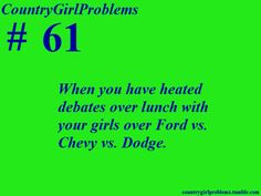 First and always Chevy then Dodge because there not that bad...