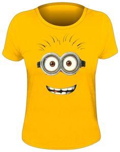 Tee Shirt Femme MINIONS - Goggle Face - http://rockagogo.com