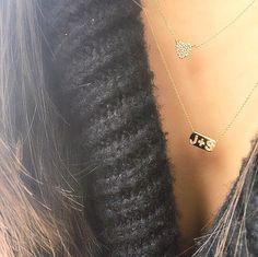 livenco_finejewelrynecklace.jpg diamond monogram necklace - fine jewelry, jewels, gemstones, gems, gold