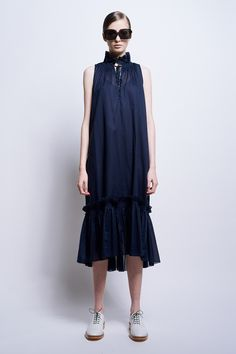 Biscay Ruffle Dress - 41708 - All Clothing | Karen Walker