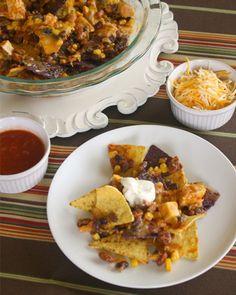 Simple & perfect for football season: Sunday Dinner: Chicken chili nachos